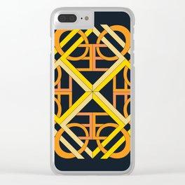 Interlaced Love Mandala - Black Gold Clear iPhone Case