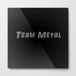Team Metal AR DARLING Regular Metal Print