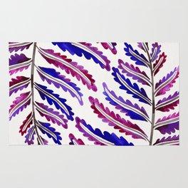 Fern Leaf – Indigo Palette Rug