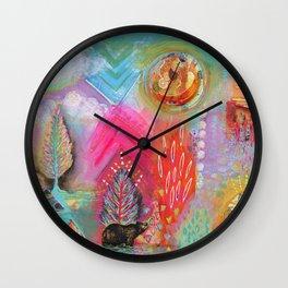 Bear Dreaming Wall Clock
