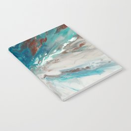 Blown Away - Abstract Acrylic Art by Fluid Nature Notebook