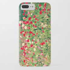 Pink and Red Poppy Flowers Wild in a Meadow Painterly Botanical Landscape Slim Case iPhone 7 Plus