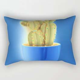 Blue cactus Rectangular Pillow