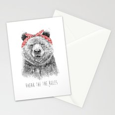 Break the rules Stationery Cards