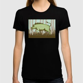 Razorback Wild Pig Boar Attacking T-shirt