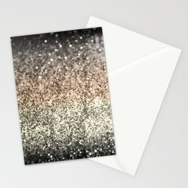 Sparkling GOLD BLACK Lady Glitter #2 #decor #art #society6 Stationery Cards