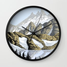 AN ALPINE LAKE Wall Clock