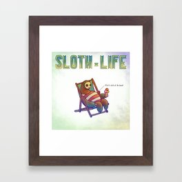 SLOTH LIFE fig. 6. Framed Art Print