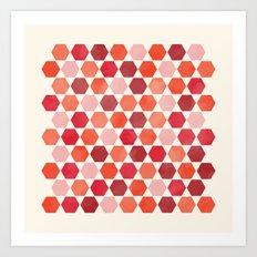 Red Tiles Art Print