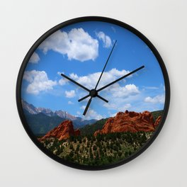 Garden Of Gods View With Kissing Camels Wall Clock