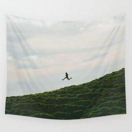 MAN - RUNNING - DOWNHILL Wall Tapestry