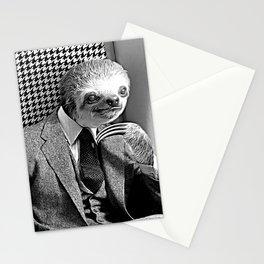 Gentleman Sloth Sitting Stationery Cards