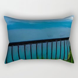 view of the infinite blue sea oil painting Rectangular Pillow