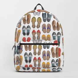 Hard choice // shoes on white background Backpack