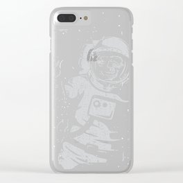 BOO !! Astronaut Skeleton Science Shirts Clear iPhone Case