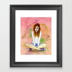 Mood today Framed Art Print