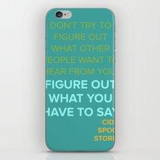 CIDER SPOON  iPhone & iPod Skin
