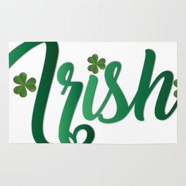 Irish ST Patrick's Day Shamrocks Rug