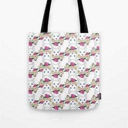 Catlady Print Tote Bag