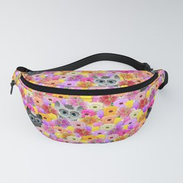 Cats in the flowers Fanny Pack