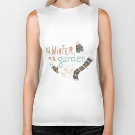 Winter garden pattern 003 Biker Tank