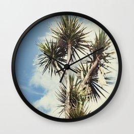 Tilt and Shift Penzance Palm tree Wall Clock