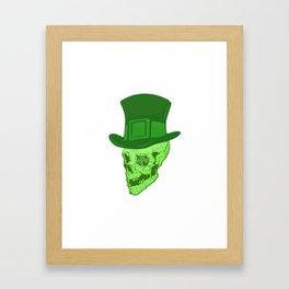 Skull Leprechaun Framed Art Print