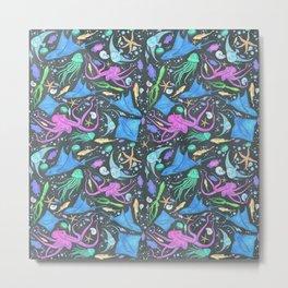 Colorful Marine Life Diversity Metal Print