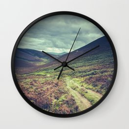Hillside Trail In Scotland Wall Clock