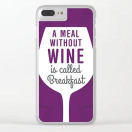 Wine Breakfast Clear iPhone Case