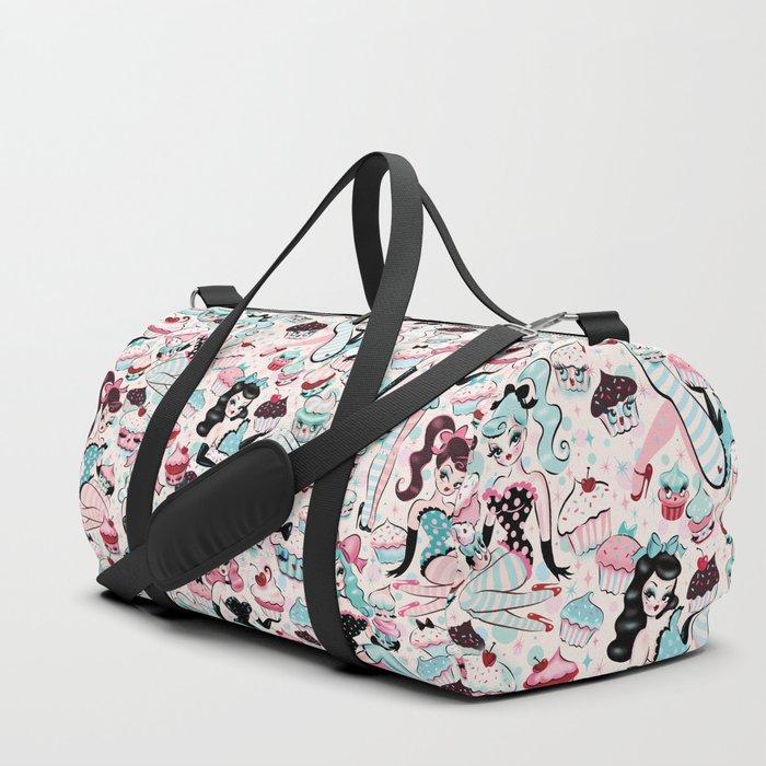 Cupcake Dolls Pattern Duffle Bag