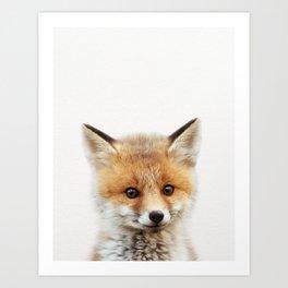 Baby Fox, Baby Animals Art Print By Synplus Art Print