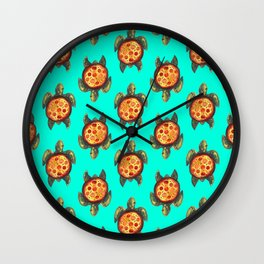 pizza turtle pattern Wall Clock