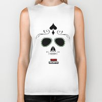 calavera Biker Tanks featuring Calavera by UrsusUnlimited