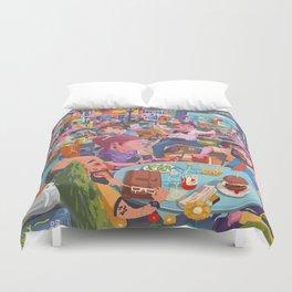 Terace BP soft colors Duvet Cover