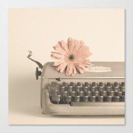 Soft Typewriter (Retro and Vintage Still Life Photography) Canvas Print