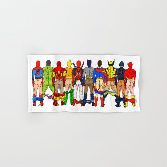Superhero Butts Hand & Bath Towel