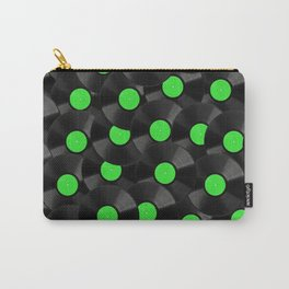 Vinyl Records Pattern (Green) Carry-All Pouch