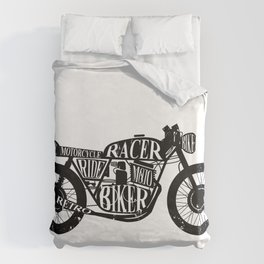 Cafe racer motorcycle Duvet Cover