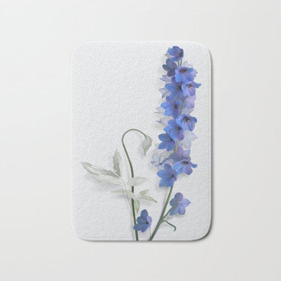 Consolida, watercolors Bath Mat