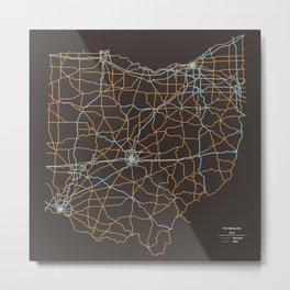 Ohio Highways Metal Print