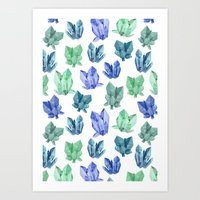 crystals Art Prints featuring Crystals by Marta Olga Klara