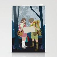 moonrise kingdom Stationery Cards featuring Moonrise Kingdom by Celina Frelinghuysen