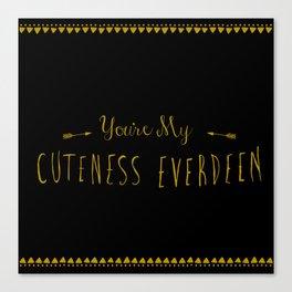 Cuteness Everdeen Canvas Print