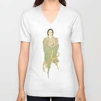 loki V-neck T-shirts featuring Loki by Pulvis