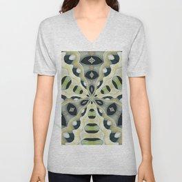 Earth Tones Kaleidoscope Abstract Pattern Unisex V-Neck