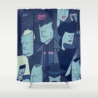 runner Shower Curtains featuring Blade Runner by Ale Giorgini