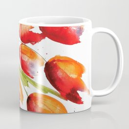 Tulips Overflowing Coffee Mug