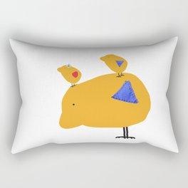 Sunny Family Father and kids Rectangular Pillow