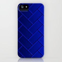Herringbone Gradient Dark Blue iPhone Case